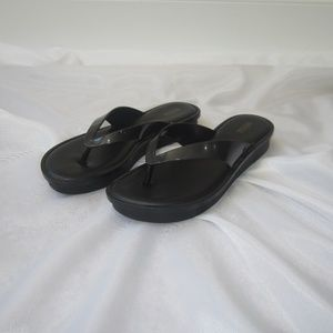 Melissa 40 9 Rubber Platform Thong Sandals